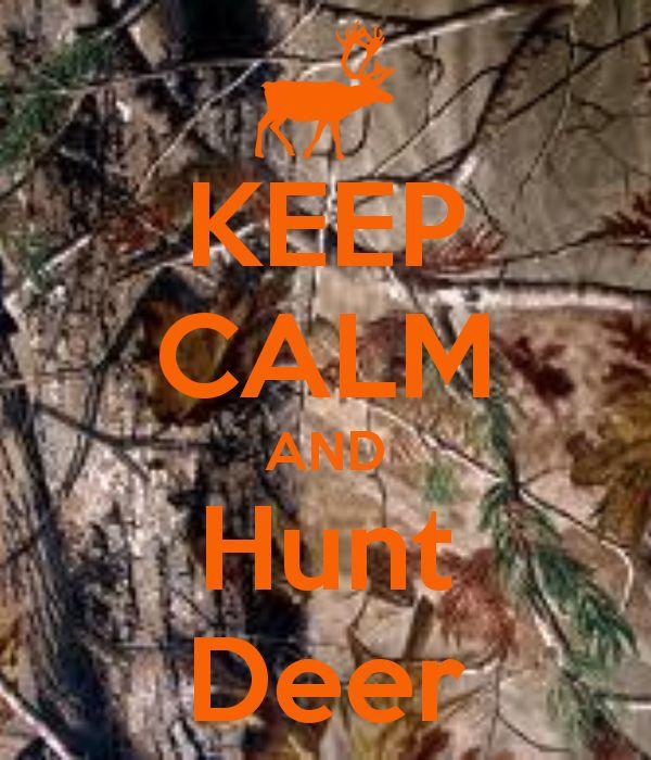 I love to deer hunt