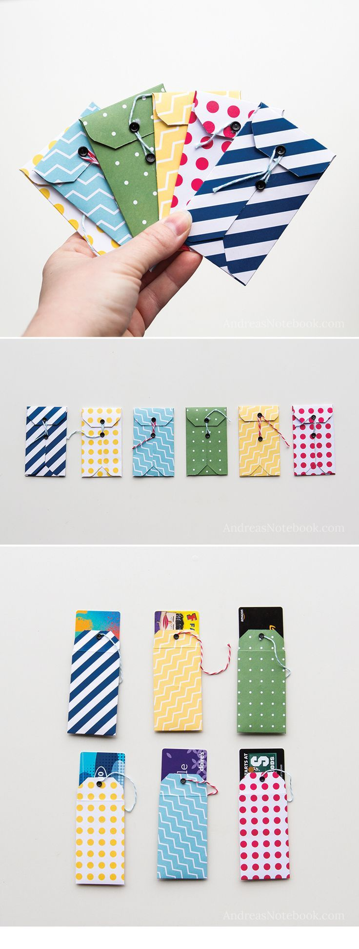 DIY gift card holder tutorials - http://AndreasNotebook.com