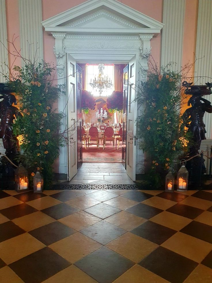 Walk into the red room at Ragleyhall wedding venue in