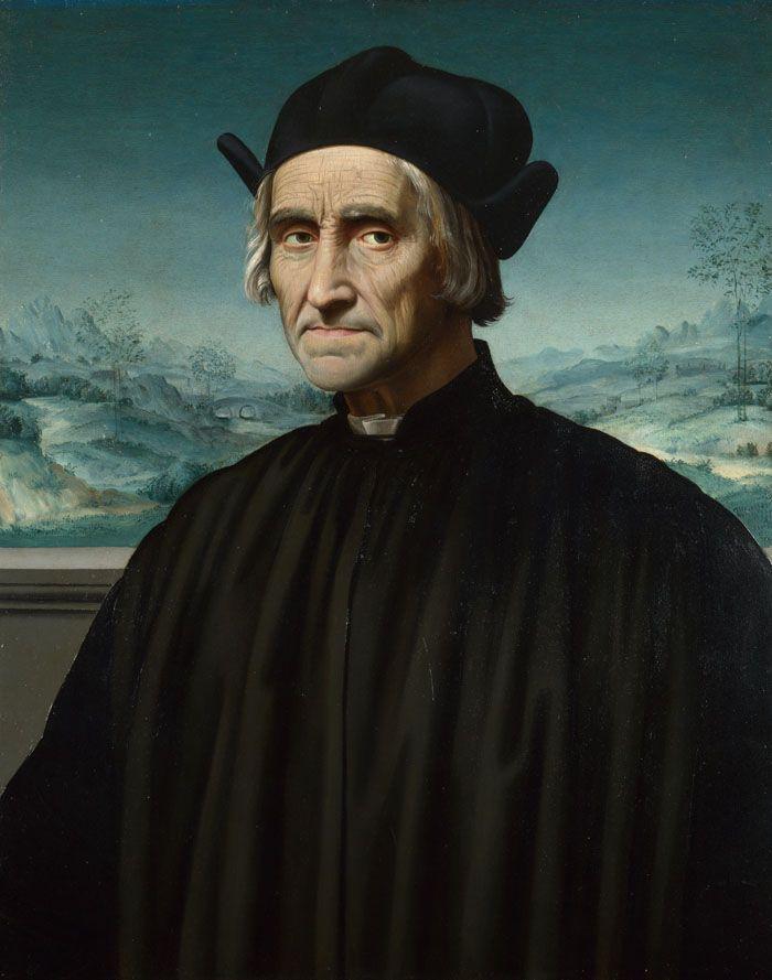 Ридольфо Гирландайо Портрет Джироламо Бенивьени - arabena.  Лондонская национальная галерея, 1510-1520.