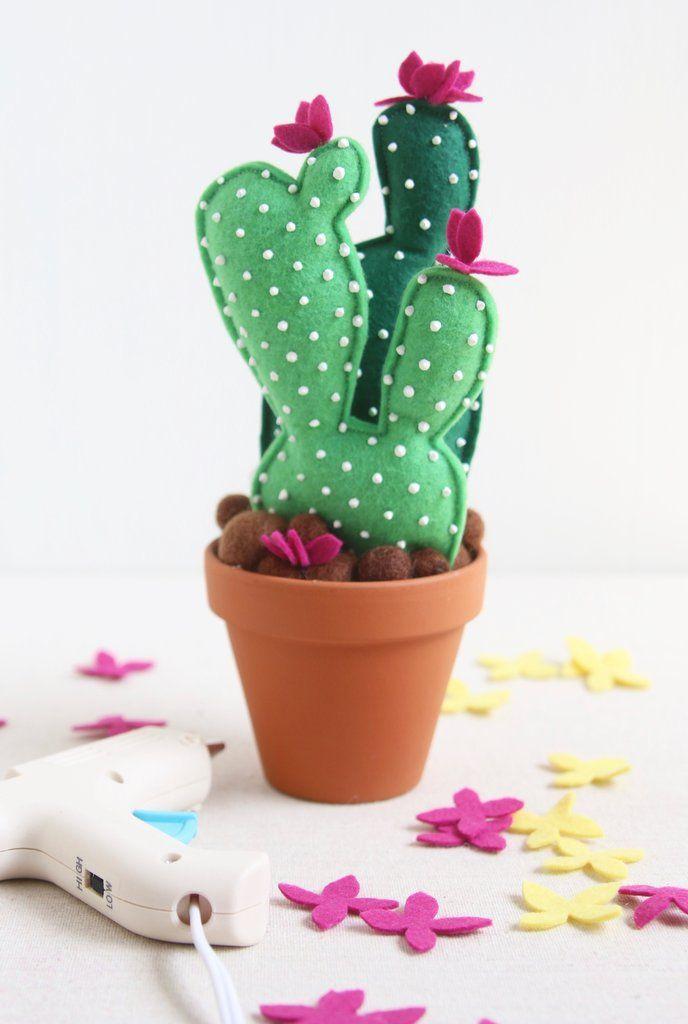 cactus succulent felt craft