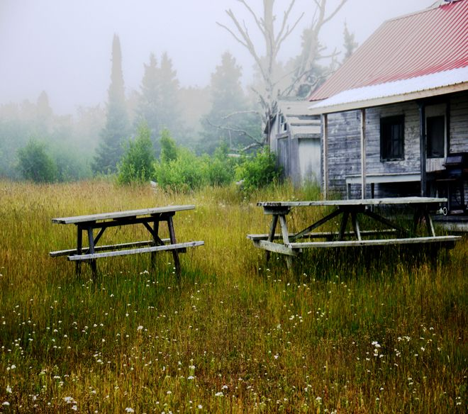 """Deserted fishing village on Michipicoten Island in Lake Superior"""