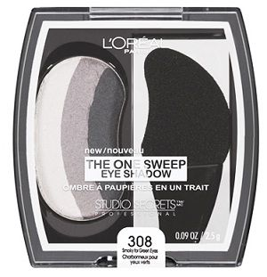 Loreal One Sweep Smoky for Green Eyes  http://www.collegefashion.net/beauty-and-hair/i-tried-it-loreal-paris-the-one-sweep-eye-shadow/#