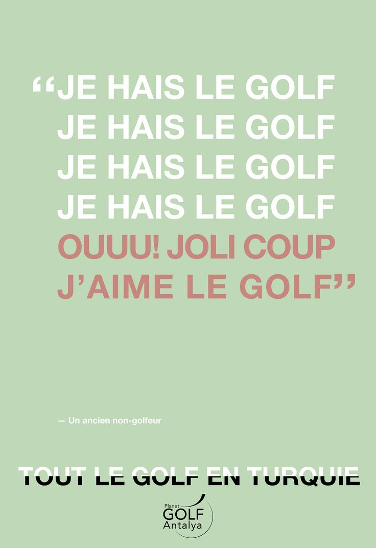 Golf Quote 7 Best Golf Quote French Images On Pinterest  French Golf