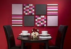 Pink...Patterned Wall Art...