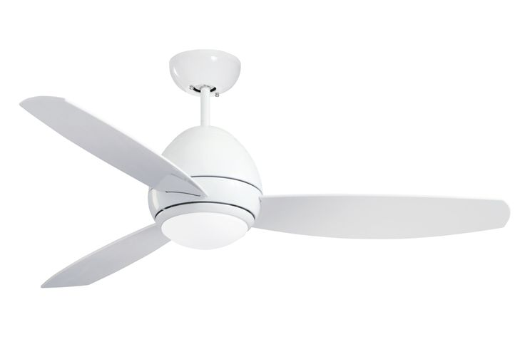 Emerson Ceiling Fans CF244WW, Curva, Modern Indoor Outdoor Ceiling Fan With Light And Remote, Wet Rated, 44-Inch Blades, Appliance White Finish