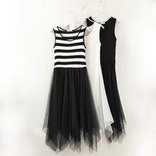 Mori ragazza stripped serbatoio maglia di base vestidos vestito da estate verao renda roupas casuali festa longo ropa mujer gonne tunique boho(China (Mainland))