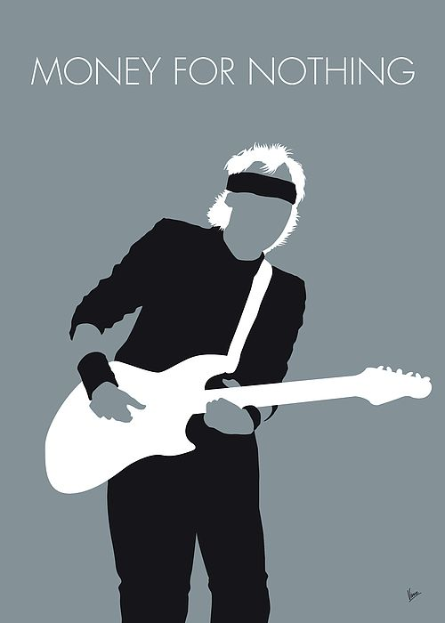 No107 My Mark Knopfler Minimal Music Poster Desenho Rock