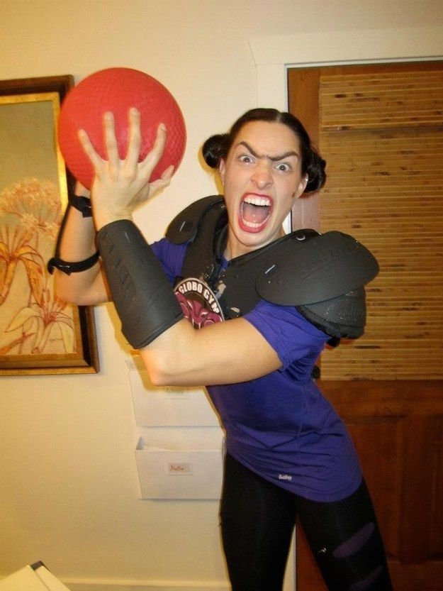 Fran Stalinovskovichdavidovitchsky from Dodgeball | 27 Insanely Creative Halloween Costumes Every Movie Lover Will Want