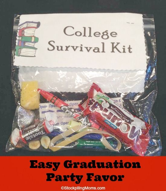 High School Graduation Party Favors | This College Survival Kit is perfect for Graduation parties!