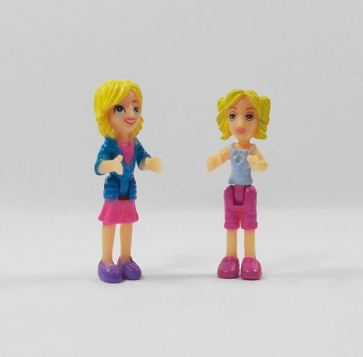 Polly Pocket - X 2 Micro Toy Figures (1)