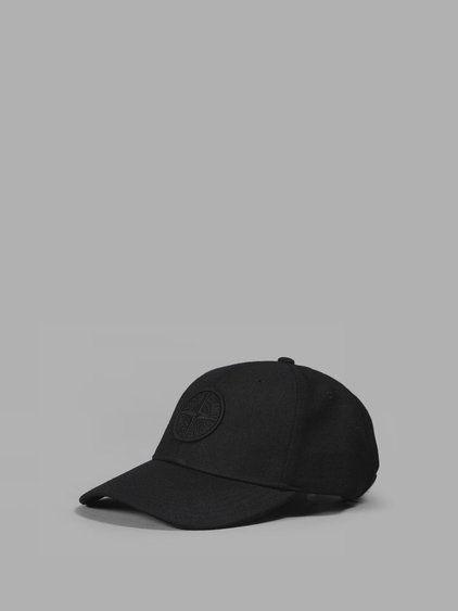 STONE ISLAND Stone Island Men'S Black Logo Cap. #stoneisland #hats