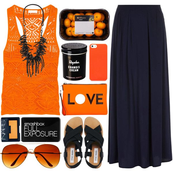 Orange Grove by ladyvalkyrie on Polyvore featuring Emilio Pucci, Dorothy Perkins, Steve Madden, Milly, Jardin, NARS Cosmetics and Smashbox