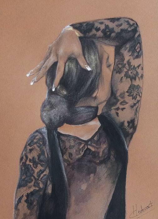 Alba mine de plomb, cire aquarellable, encre et crayon sur papier/14x19cm/2016