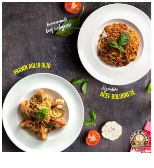 Western pasta offer visit Charlie Brown Cafe at Cineleisure Orchard Singapore now for promotion and discount, we are halal certified restaurant with over 70 choices of American meals and drinks.
