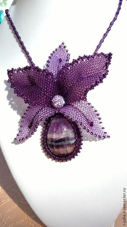 """Кулоны, подвески ручной работы. Ярмарка Мастеров - ручная работа Кулон с флюоритом """"Орхидея"""". Handmade."""