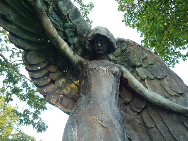 While in college, I would often walk the cemetery to see the Black Angel in Iowa City.