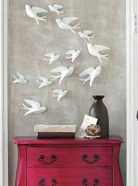 Create an instant work of art with our Birds of Flight wall hanging- perfect addition to your entryway!