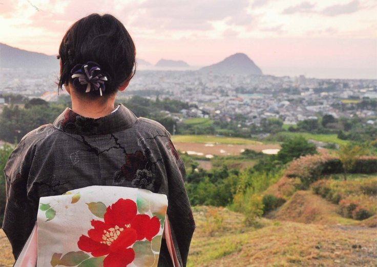 "the prize winning work of photocontest ""kimono week in Hagi 2010"""