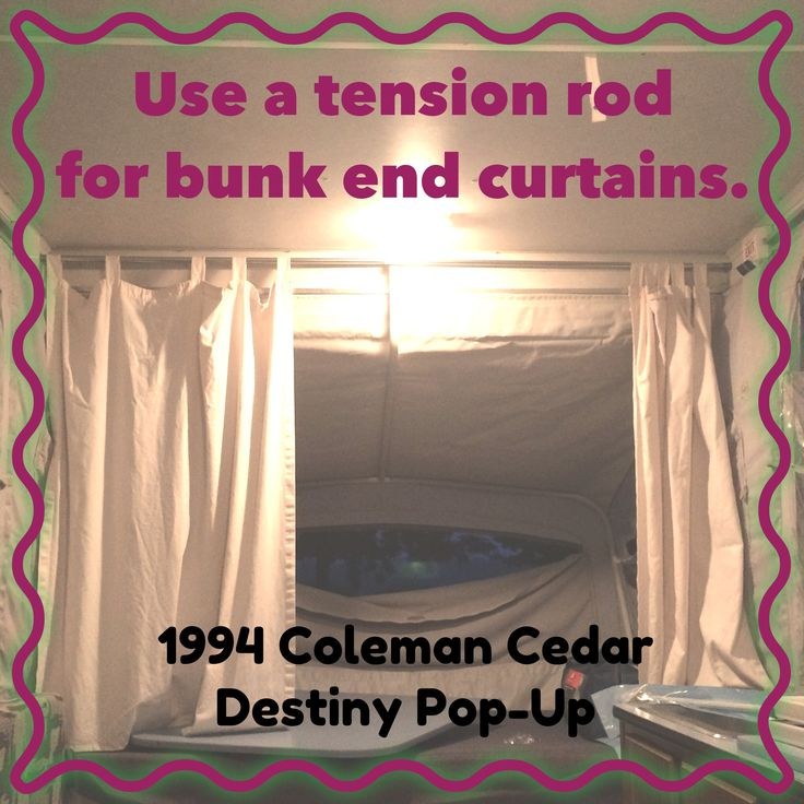 best images about camping in the pop up storage tension rod to replace c clips in 1994 coleman cedar destiny pop up acircmiddot tension rod curtainshanging curtainscamper