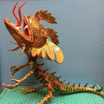 Large Dragon Alebrije Sculpture by Pedro Linares | Eye's Gallery