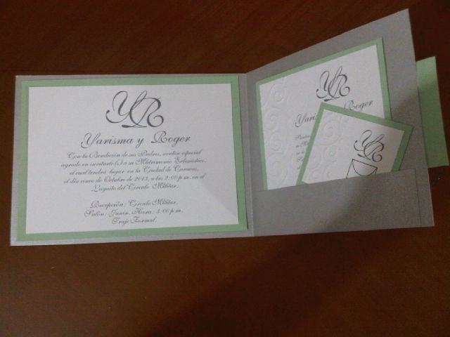 Silver Wedding invitations Pocket