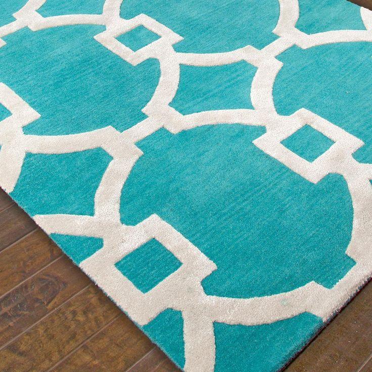 Contemporary Fretwork Plush Wool Rug