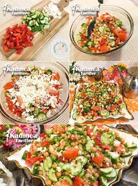 Beyaz Peynirli Nohut Salatası Tarifi