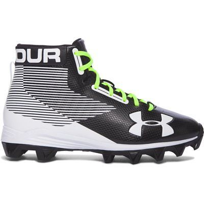 Youth 159118: Boy S Under Armour Hammer Mid Rm Jr. Football Cleats Black White -> BUY IT NOW ONLY: $44.99 on eBay!