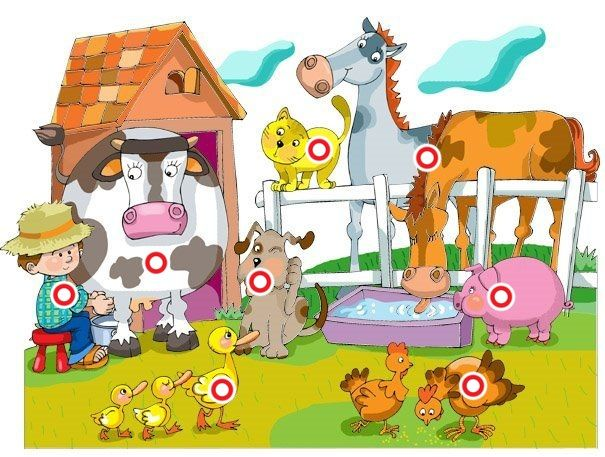 Interactieve praatplaat Loeiende koe, Paard hinnikt, varken knort, hond blaft, ka... by Axelle