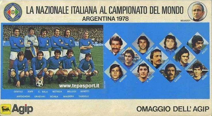 Argentina 1978 La Nazionale Italiana di Calcio al campionato del mondo ... ⚽️ C'ero anch'io ... http://www.casatepa.it/  🇮🇹 Made in Italy dal 1952