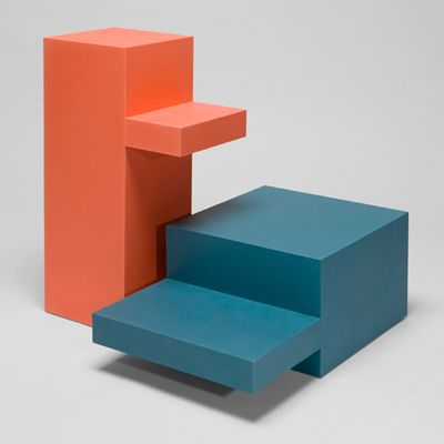 The geometric formed Lift Tables, designed by German based designer Mark Braun, will be part of DMY's exhibit at the Milan Design Week next week.