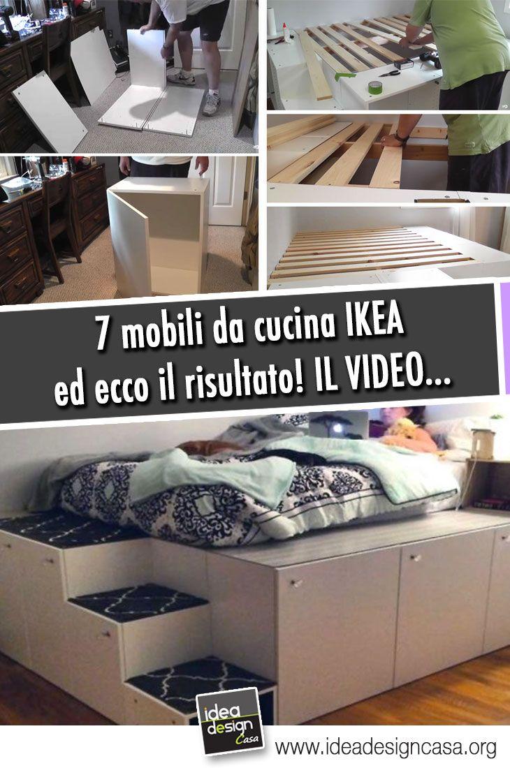 Un letto salvaspazio a piattaforma con 7 mobili da cucina IKEA ...