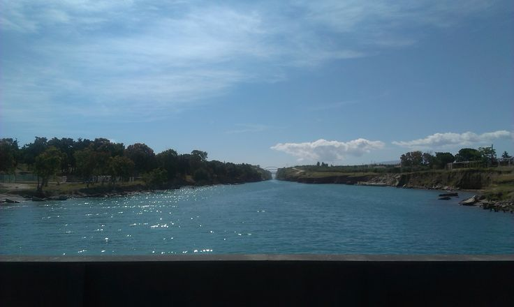 View from Possidonia submergible bridge