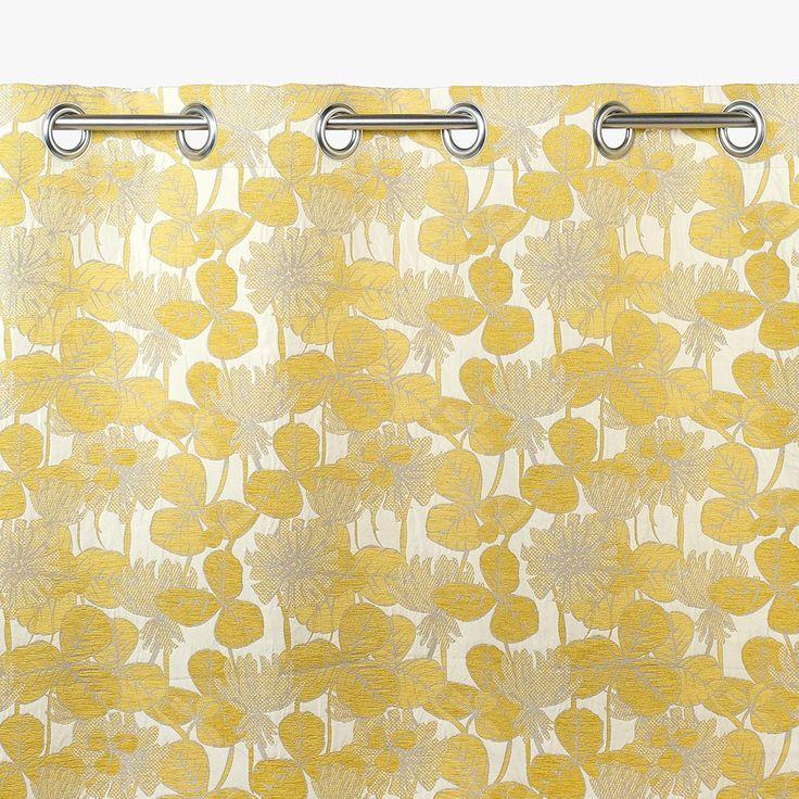 Cortinado Savannah Folhas Mostarda 140 x 270 cm | referência 12674079 | A Loja do Gato Preto | #alojadogatopreto | #shoponline