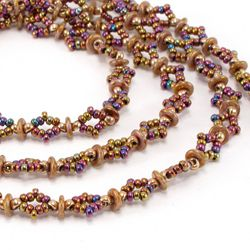 Diamond O Beaded Chain - free PDF ~ Seed Bead Tutorials