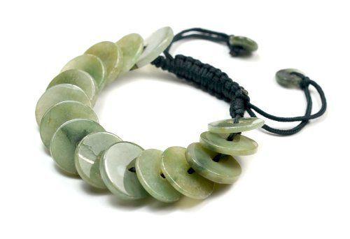 Elegante Fortune-Jade Münzen Armband, grüne Jade Münzen 18x18x3 mm, einstellbar Brown Cord 7-10 Zoll von Feng Shui & Fortune Jewelry, http://www.amazon.de/dp/B00ENIGQIA/ref=cm_sw_r_pi_dp_y-.esb0NMJQSB