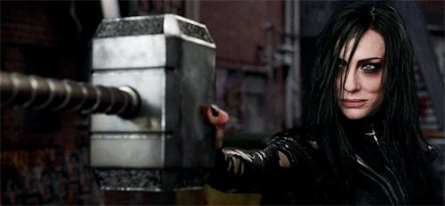 This is fairly significant, as it means that Hela is worthy enough to hold the hammer (unless she has an Infinity Stone with her) and that she's powerful enough to destroy it<<<<<