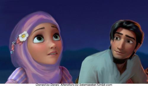 <3 Disney Princess in hijab! Wow! :)