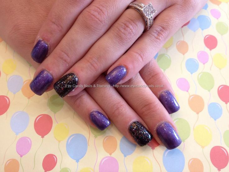 473 best nicola senior my lovely nail art eye candy salon eye candy nails training acrylic overlay with purple and black gel polish by nicola senior on 4 october 2013 at prinsesfo Image collections