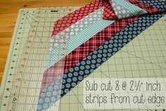 Quick and easy method using jelly roll strips to make a lone star quilt                                                                                                                                                                                 More