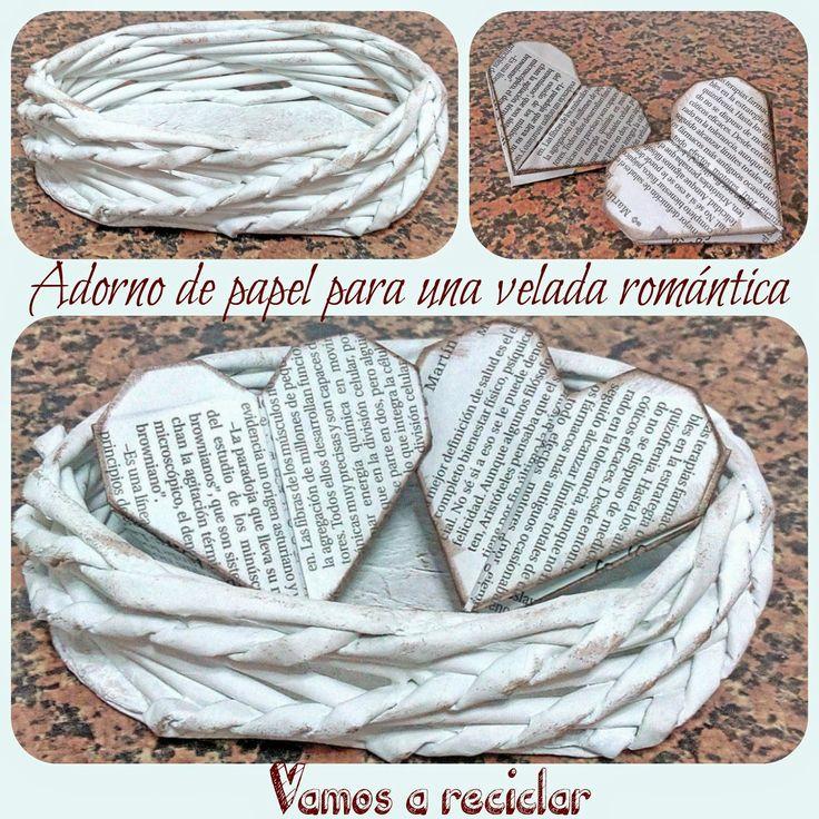 Adorno de papel para una velada romántica
