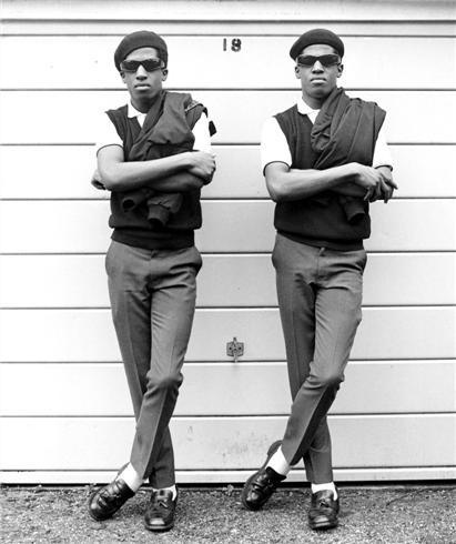 Rudeboys Chuka and Dubem, identical twins famous in early 80s London.