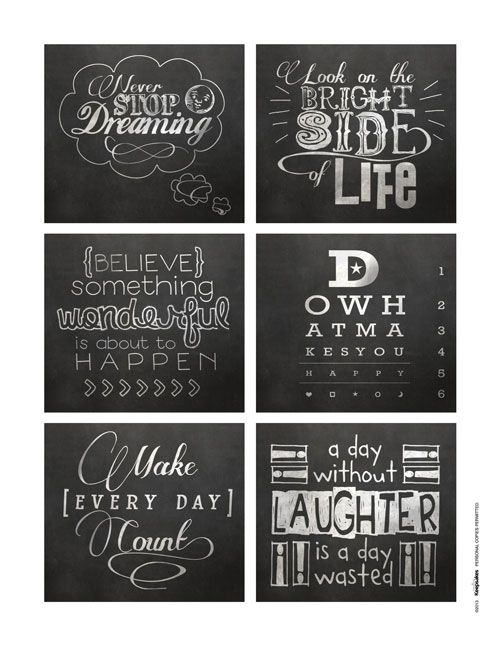 Download this Free Sheet of Chalkboard Quotes | September/October 2013 | Creating Keepsakes
