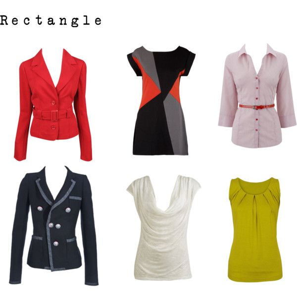 """Rectangle - Jackets & Tops"" by nofailformula on Polyvore"