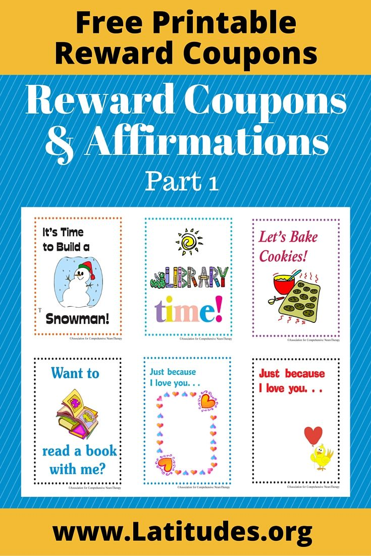 Reward Coupons & Affirmations For Kids (Part 1)
