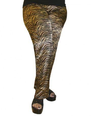 BABILONIA. Pantalón de seda estampada con elástico en la cintura