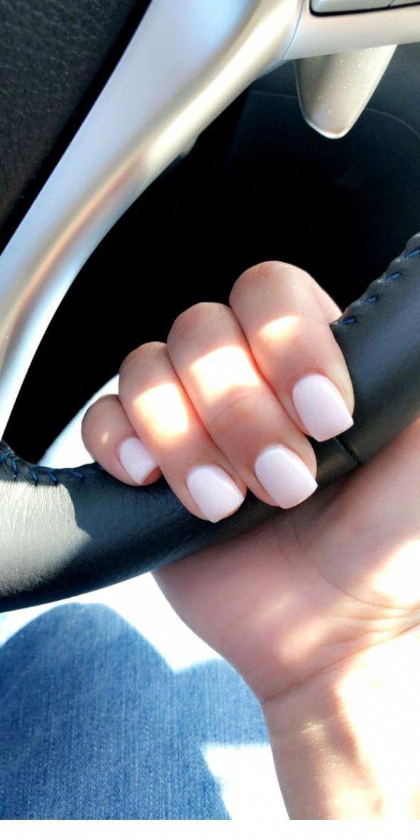 Short Nail Idea With Pink Shortgelnails Shortnaildesigns Short Acrylic Nails Pretty Nails Trendy Nails
