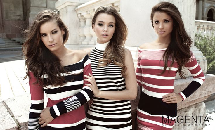 Magenta 2013 PRE FALL #fashion #magenta #magentafashion #women #beauty #dress #stripped #campaign #fashioncampaign