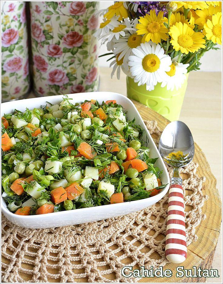 Bezelyeli Havuçlu Patates Salatası